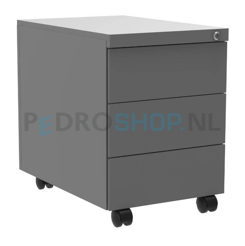 Pdc aluminium ladeblok 3 laden 80 cm diep goedkoop online for Ladeblok 70 cm diep